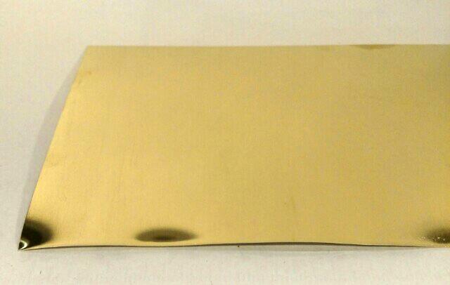 "Brass Craft Sheet Metal 22 Ga  3/"" x 6/"" Yellow Soft Solid Brass Made In USA"